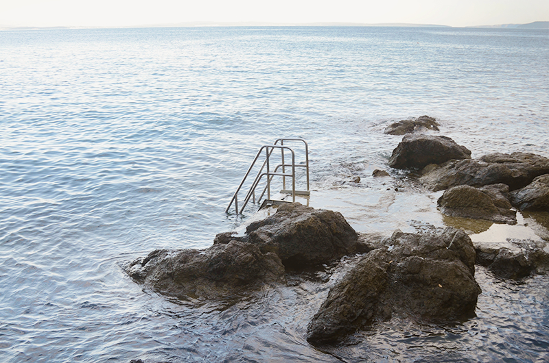 Stairs in the Adriatic sea