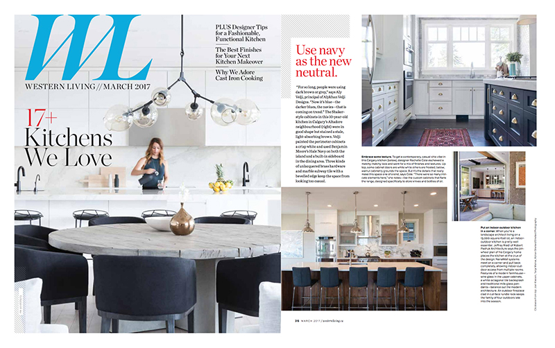 Image of a tearsheet featuring kitchens.